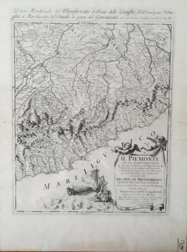 Carta Geografica antica del Nord Ovest d'Italia