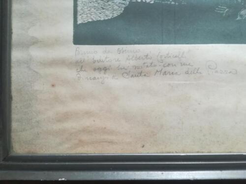 Zoom di dedica  autografata dall'autore Bruno da Osimo