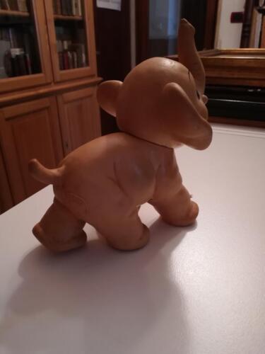 """Elefantino della """"Rubber Toys"""" Made in Italy."""
