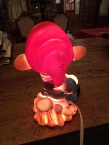 Retro lampada da notte, accesa con marchio Ledra Plastic