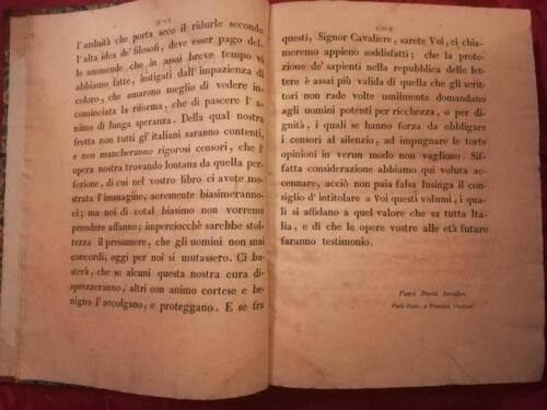 Dedica dell' Opera a Vicenzo Monti