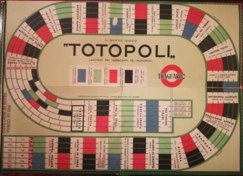 Prima plancia di gioco apribile. (sia il primo che il seguente percorso si trovano nello stesso tabellone apribile in cartone)