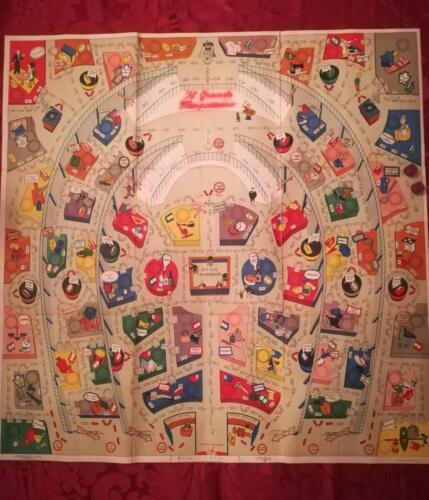 Tabellone di gioco pieghevole rappresentante il grande magazzino e tutti i suoi reparti.