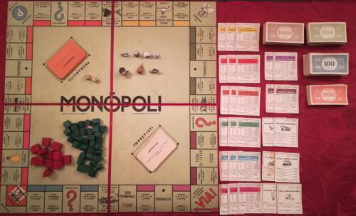 Veduta del Monopoli , completo di tutto il contenuto richiesto dal regolamento. Gioco in ottime condizioni.