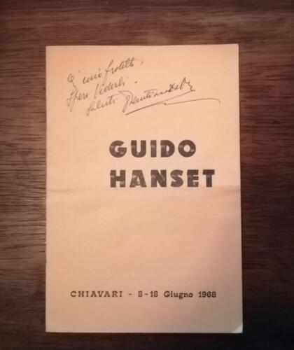Catalogo della mostra dei quadri di Guido Hanset della città di Chiavari del 1968.