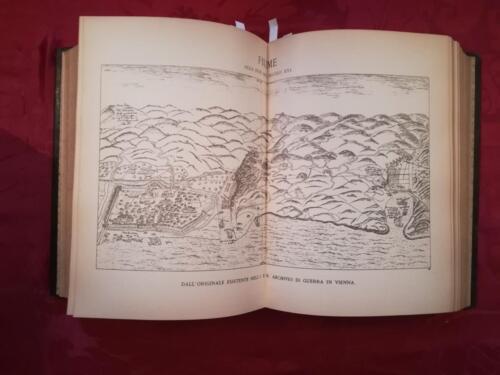 Veduta di una delle 8 tavole raffigurante la carta di Fiume del secolo XVI.
