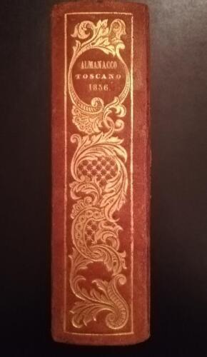 Dorso dell' almanacco Toscano del 1856.