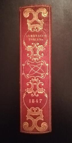Dorso dell' almanacco Toscano del 1847.