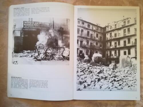Una delle tante illustrazioni di vecchie fotografie di Tullio Farabola.Fotografie di alcuni dei tanti danni arrecati da bombardamenti aerei durante la Seconda Guerra Mondiale.