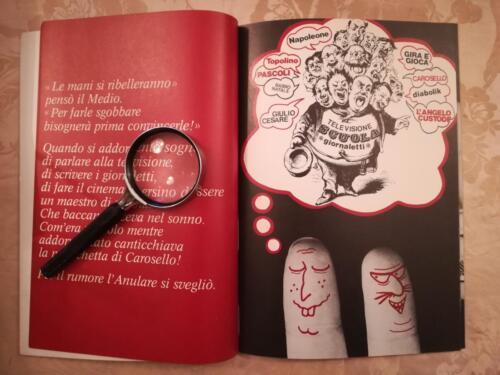 Altra immagine umoristica con le dita illustrate con facce buffe disegnate.