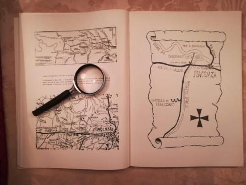 Cartina riproducente corso del Po.