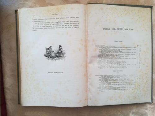 Indice delle tavole e dei capitoli del volume primo.