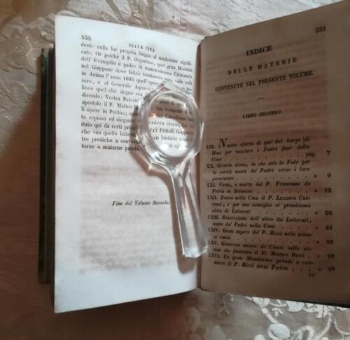 Indice delle materie contenti nel secondo volume.