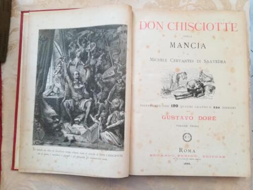 Frontespizio del primo volume illustrato da una delle 120 incisioni, quadri grandi di Gustavo Dorè.