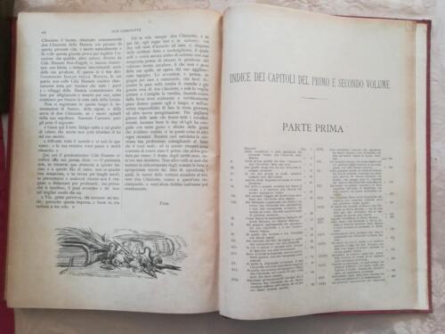 Indice ,del primo e del secondo volume, delle incisioni e dei capitoli del romanzo.