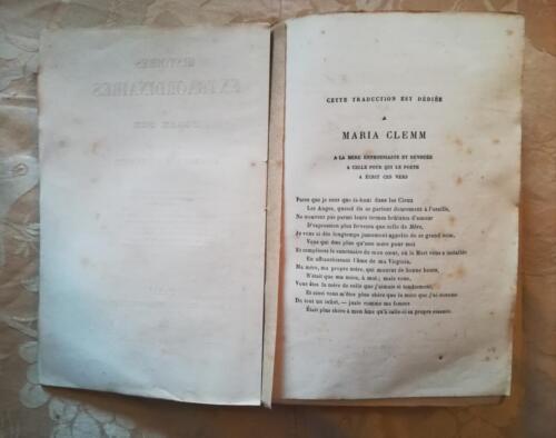 Prime pagine del libro e dedica a Maria Clemm.