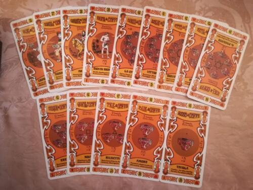 """Veduta delle 14 carte dei semi: """"Le coppe""""."""