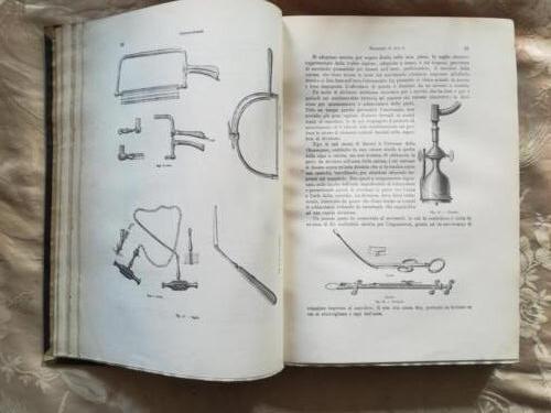 """Veduta di immagini di """"armamentario"""" degli strumenti per tagliare le ossa."""