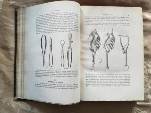 """Veduta di immagini di """"Strumenti di sintesi"""" tra cui esempi di """"Tenaglie da ossa"""" e """"Porta aghi""""."""
