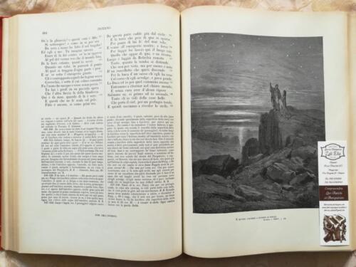 Fine della cantica dell' Inferno con illustrazione finale il quale si può notare Virgilio e Dante osservare le stelle.