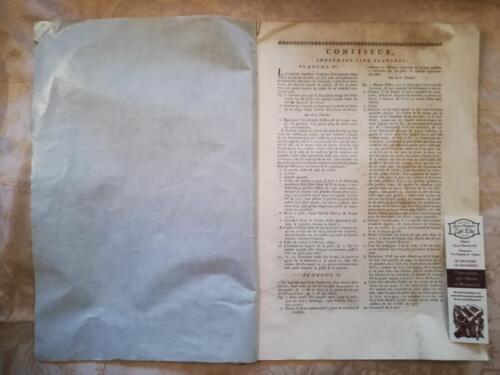 Descrizione ed elenco, in lingua francese, delle tavole.