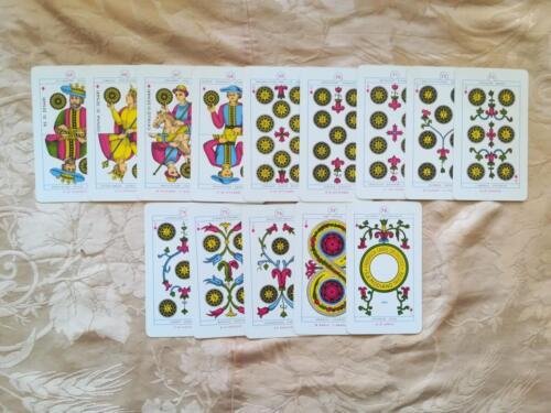 Le 14 carte del seme di Denari.
