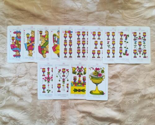 Le 14 carte del seme di Coppe.