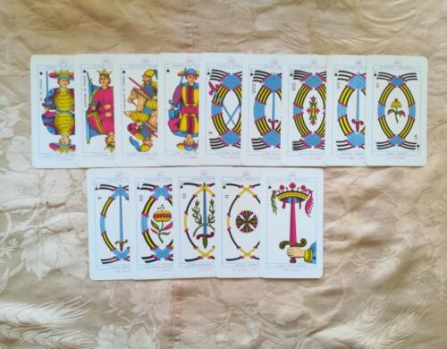 Le 14 carte del seme di Spade.