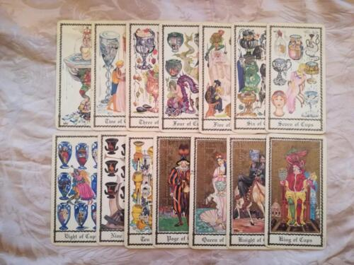 Veduta delle 14 carte delle coppe.