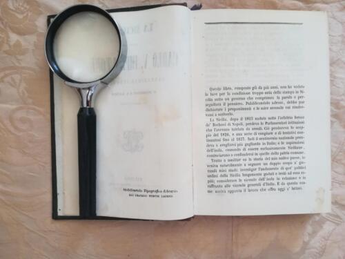 Veduta dello stabilimento tipografico in basso a destra e della prefazione del libro.