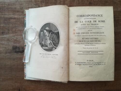"""Frontespizio della parte in lingua Francese con titolo: """"Correspondance Authentique de la cour de Rome avec la France."""