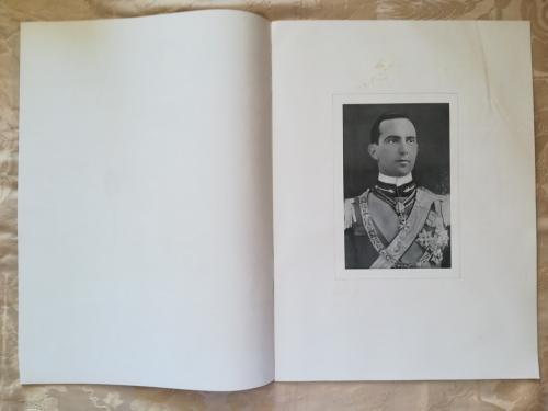 Antiporta con veduta del ritratto del principe Umberto.