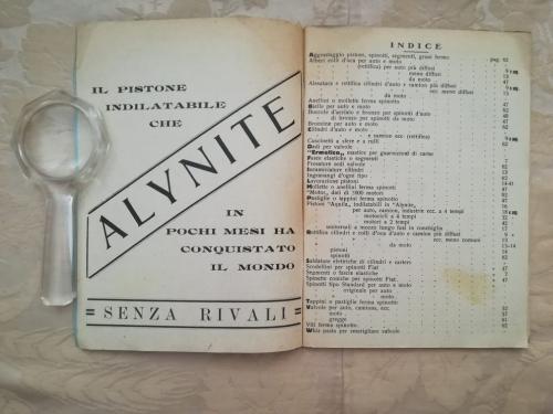 Pubblicità della Alynite ed indice a destra.