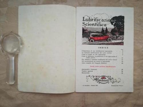 Indice posto alle prime pagine dell' opuscolo.