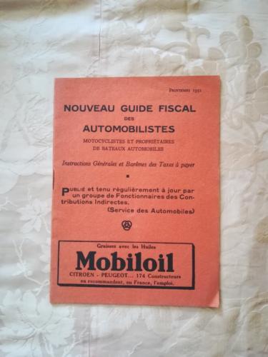 Copertina dell'opuscolo con pubblicità della Mobil Oil.
