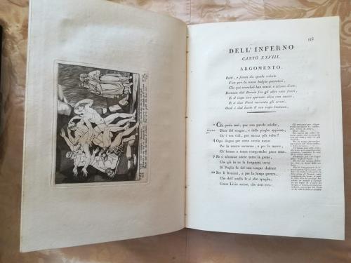 Ventottesimo canto dell'Inferno ed un'altra incisione sulla sinistra.