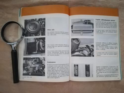 Immagini sul raffreddamento del motore e sui lubrificanti da usare.