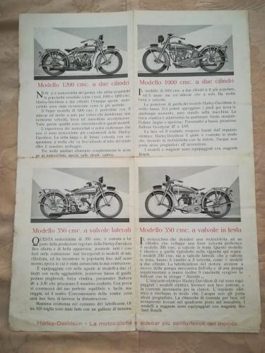 Parte del libretto con le pagine pieghevoli , dove vengono elencati altri 4 modelli e le loro tipiche caratteristiche.