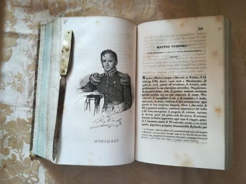 """Una delle numerose tavole litografiche.""""Matteo Rybinski"""" e la sua storia."""
