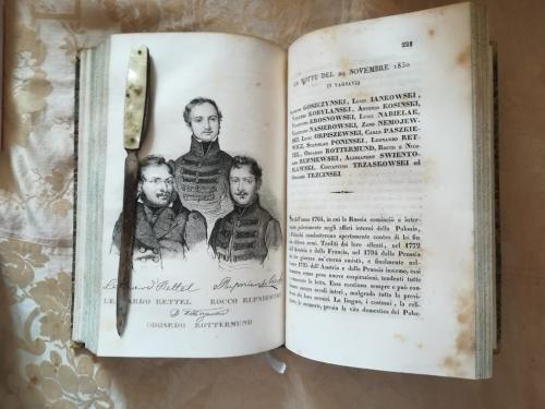 """Una delle numerose tavole litografiche.""""Leonardo Rettei"""" , """"Rocco Repnicki"""" e """"Edoardo Rottermund"""" e la loro storia."""