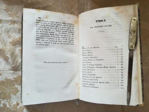 Indice del secondo volume.