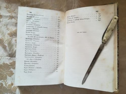 Fine dell'indice del secondo volume e termine del libro.