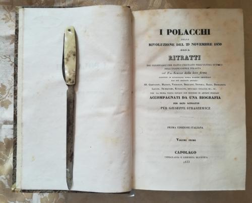 Frontespizio del primo volume. Con data di fine stampa e tipografia,