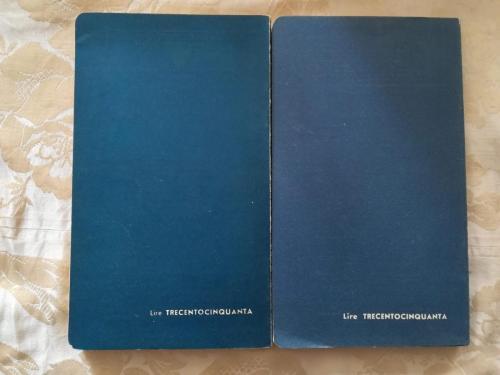 Retro dei due volumi con su riportato il prezzo di lire trecentocinquanta.