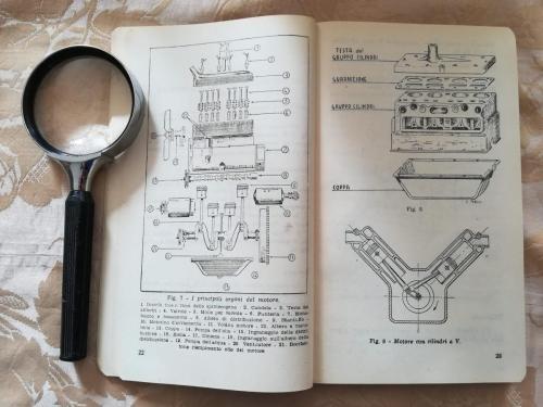 """""""I principali organi del motore"""", Una delle tante immagini con l'apposita legenda."""